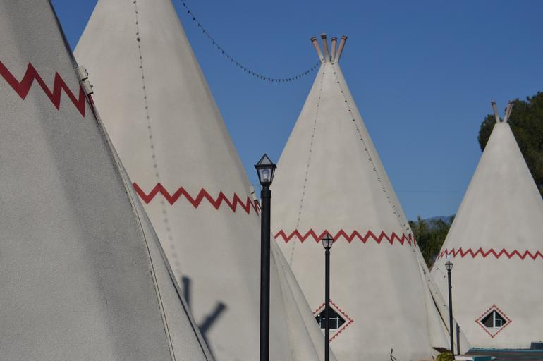 indiánské teepee